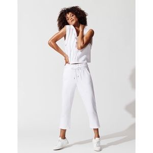 NWT RUN:WAY Kennedy Cropped Jogger White Small